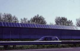 PV noise barrier A9, the Netherlands, credit: pvresources